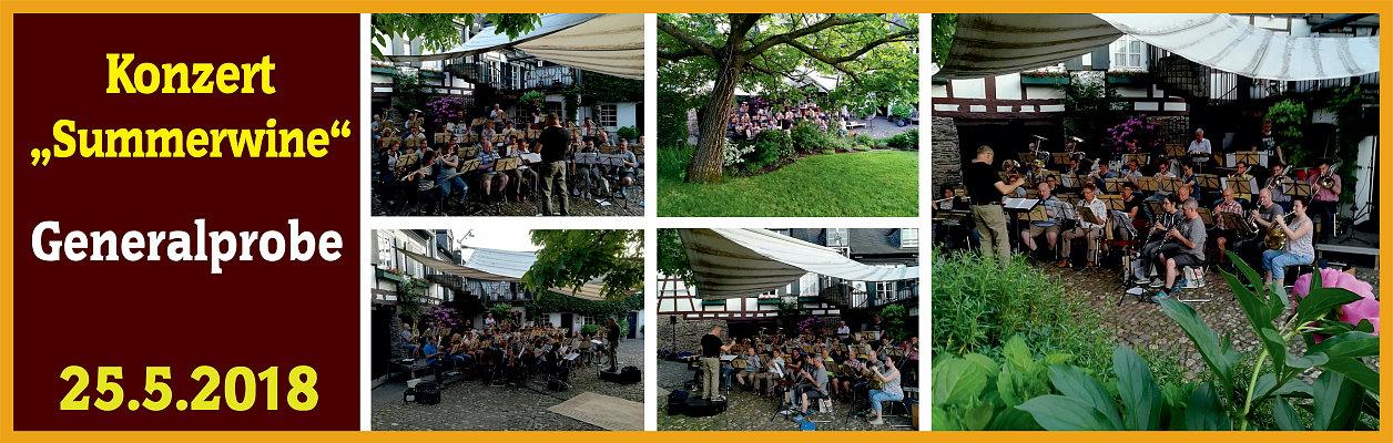 "2018 - Generalprobe Konzert ""Summerwine"""