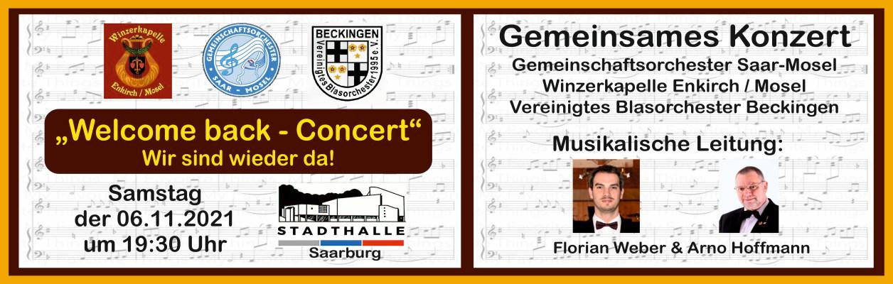 Welcome back – Drei Vereine, ein Konzert.